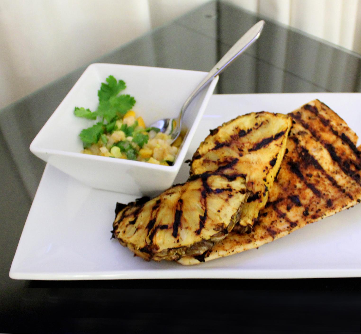 amberjack fish recipe, midlife snowbird, mango salsa