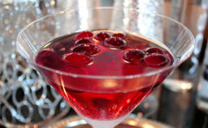 Champagne Poinsettia, red cocktail, easy holiday cocktail
