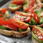 MInt Pea Crostini Midlife Snowbird Recipe