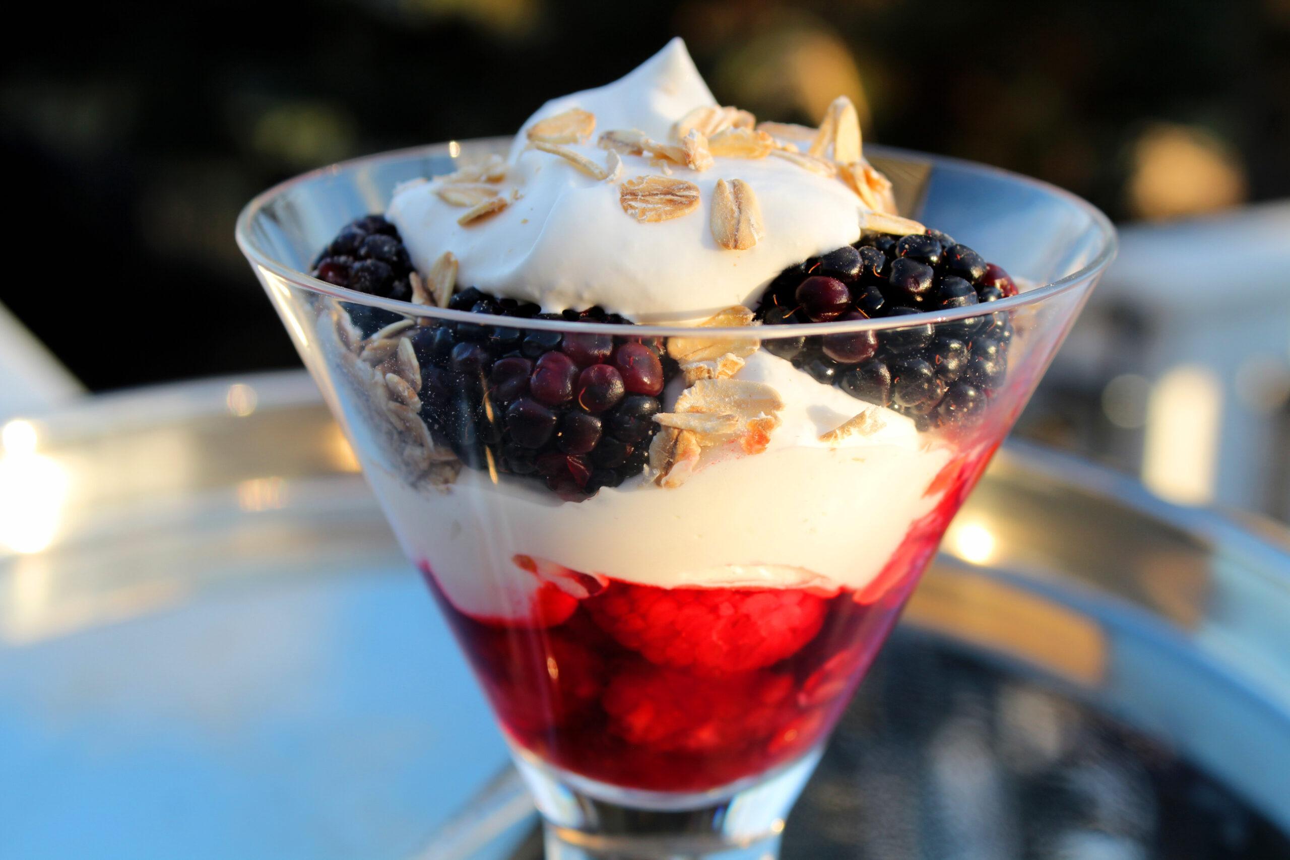 Burns Night Dessert Berry Parfait Midlife Snowbird Recipe